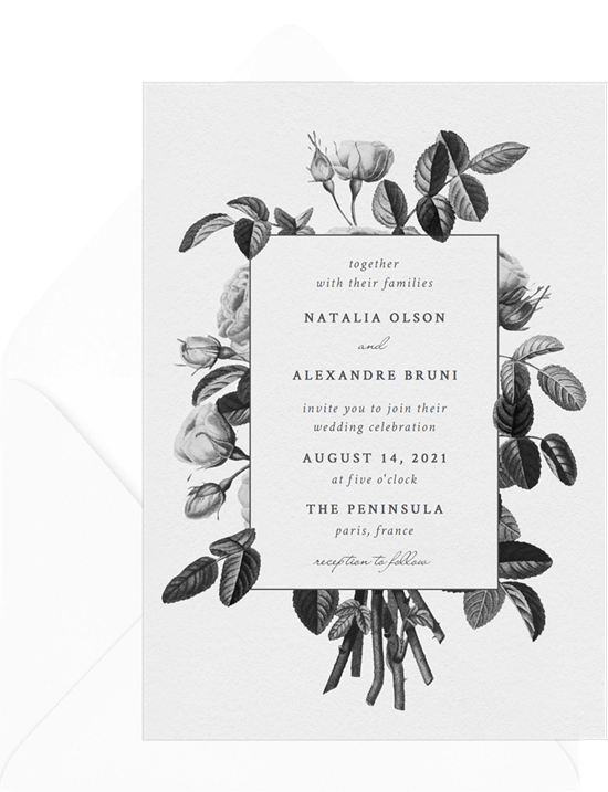 Vintage Bouquet wedding invitations from Greenvelope