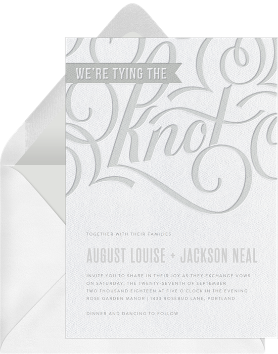 Letterpress Love Flourish vintage wedding invitations from Greenvelope