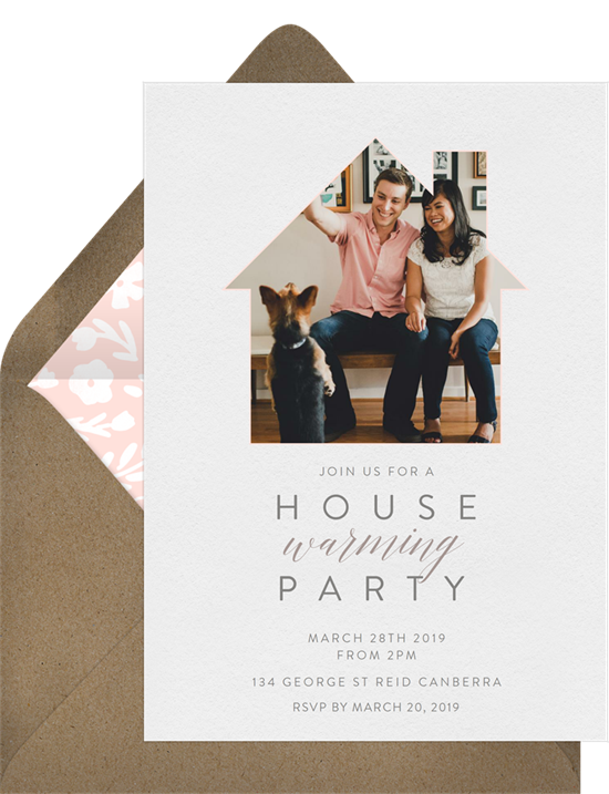 Classic Home open house invitation from Greenvelope