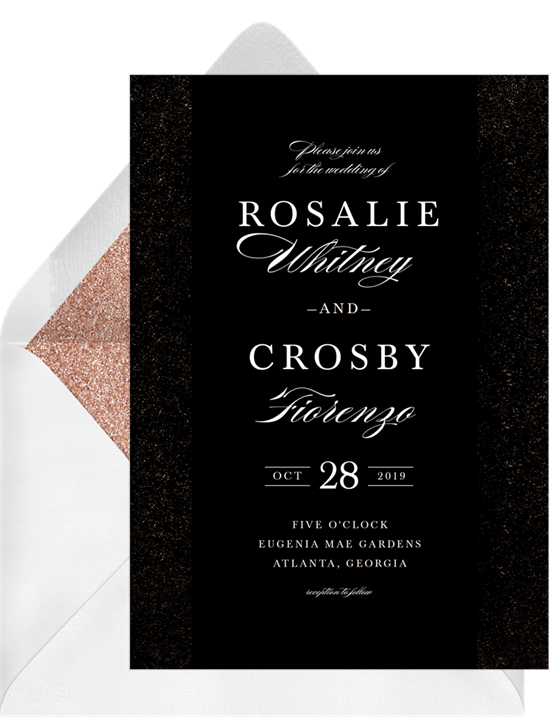 Foil Elegance simple wedding invitations from Greenvelope