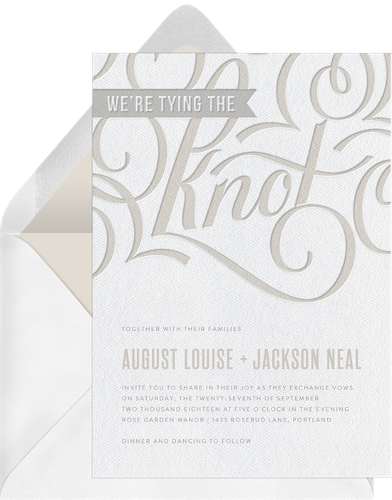 Letterpress Love Flourish wedding invitations from Greenvelope