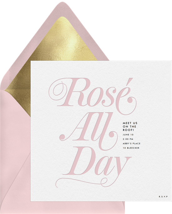 Rose All Day Invitations to add your Mother's Day sayings to