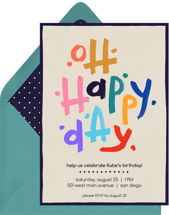 Oh Happy Day Invitations to add your Mother's Day sayings to
