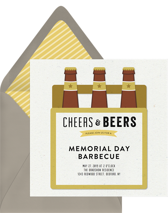 Greenvelope Memorial Day barbecue invitation