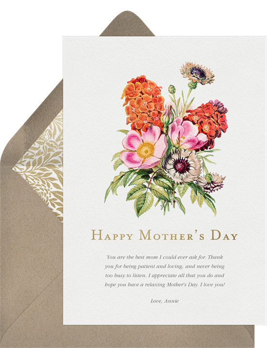 Funny Mother's Day cards: Cheerful Bouquet card by Greenvelope