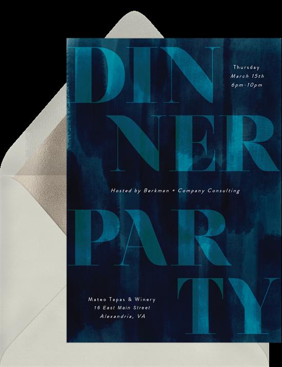 Virtual parties: A digital dinner party invitation