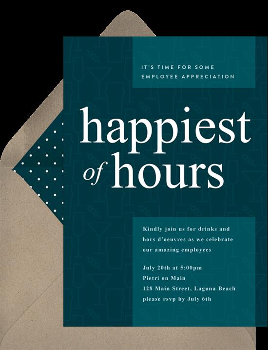 Virtual party: a digital happy hour invitation
