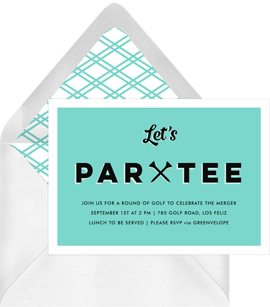 Let's Partee golf-themed Father's Day cards from Greenvelope