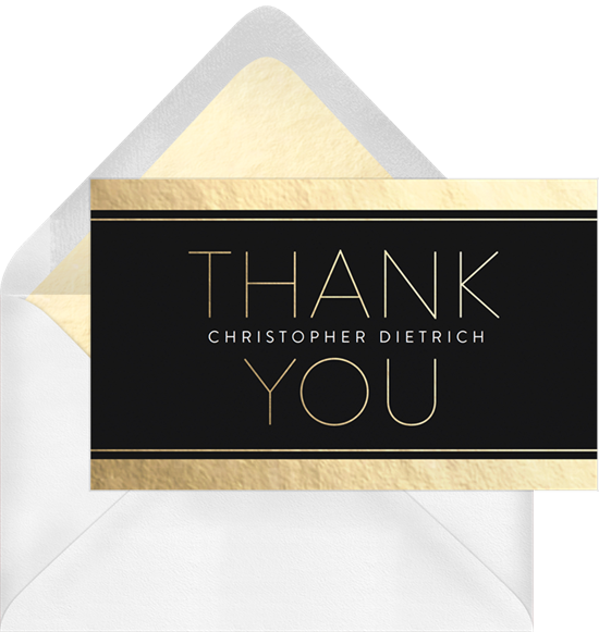 Golden Grad graduation thank you cards from Greenvelope