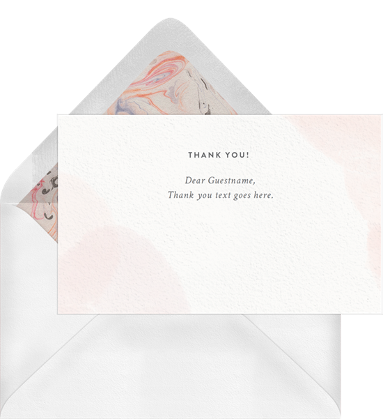 Watercolor baby shower thank you cards