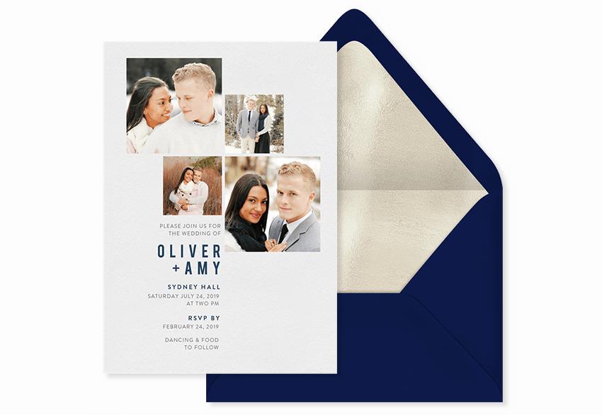 simple photo grid invitation template