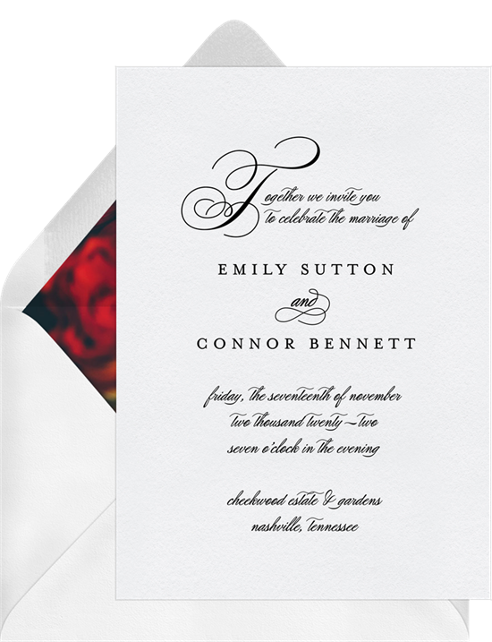wedding invitation wording  how to find the right words