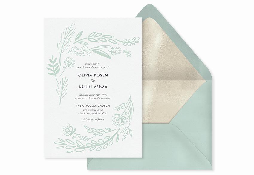 simple nature invitation template