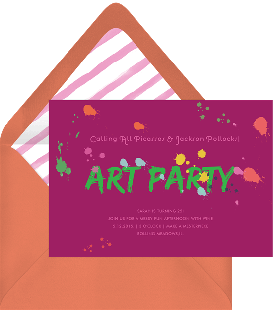 Virtual party: a digital art party invitation