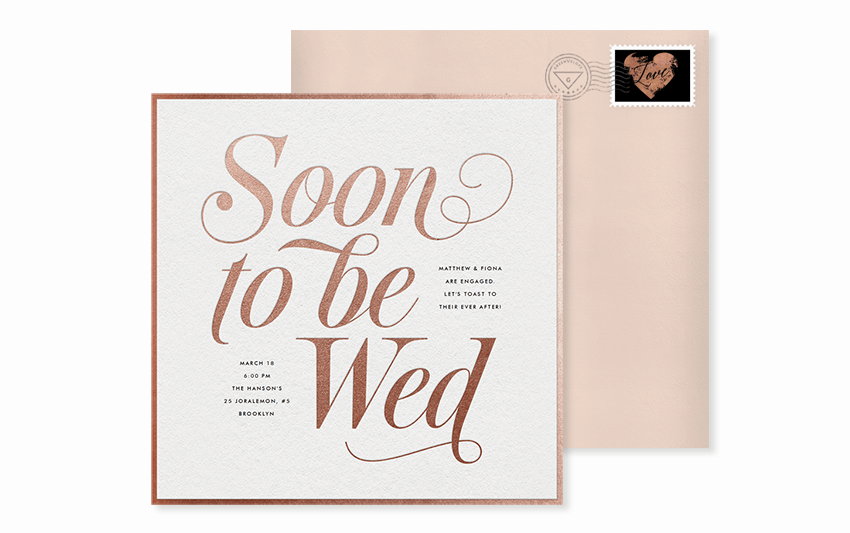 simple soon to be wed invite template