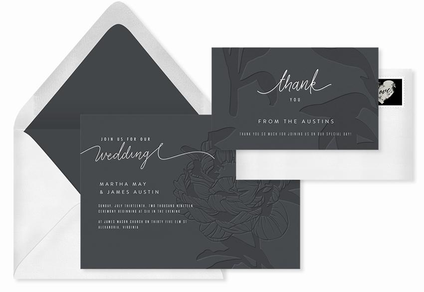 simple subtle florals invitation template