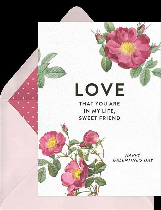 Sweet Friend Valentine's Card from Greenvelope