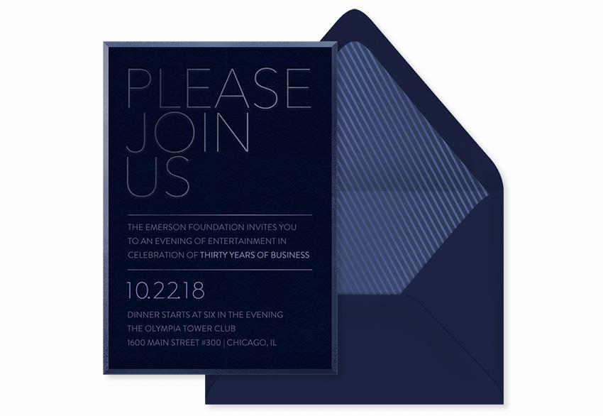 tone on tone simple invitation template