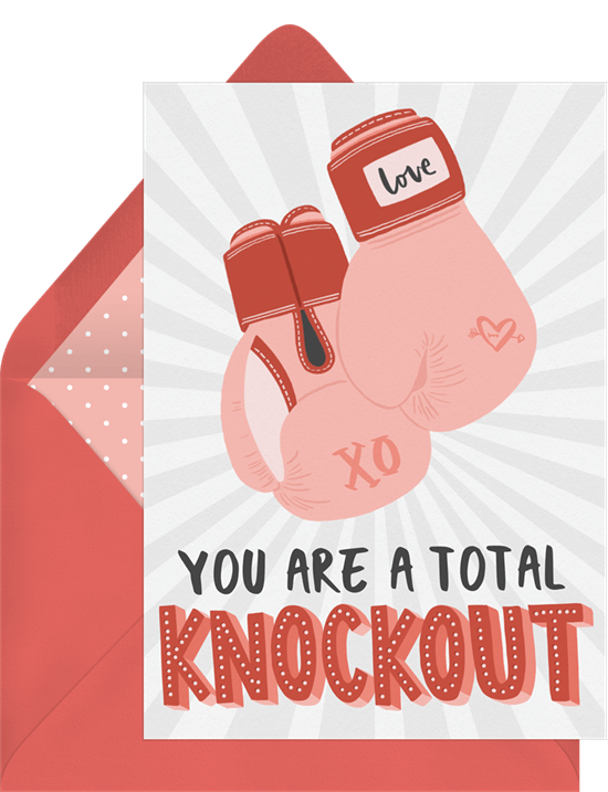 Total Knockout Valentine's Card from Greenvelope