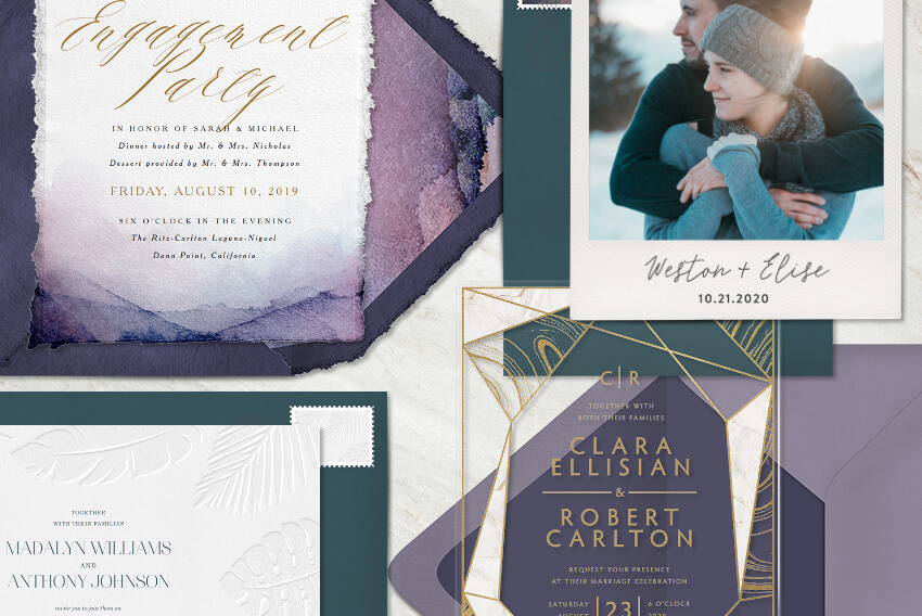 Unexpected Wedding Invitations