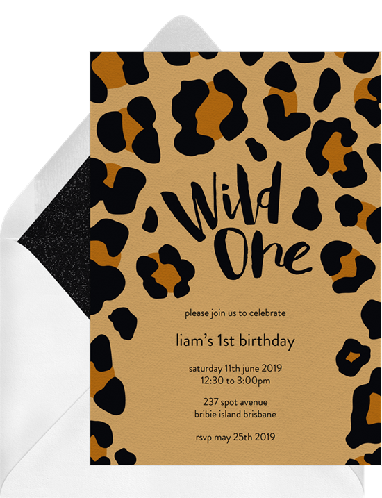 1st birthday invitations: the Wild One Invitation design from Greenvelope
