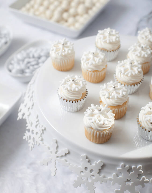 winter baby shower snowflakes_