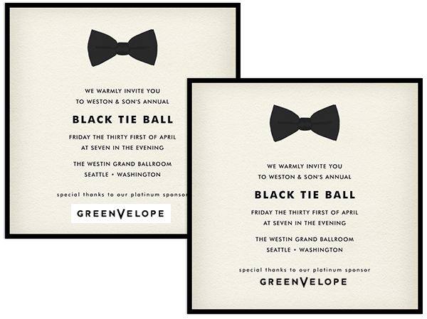 View Sample  Corporate Invitation Template